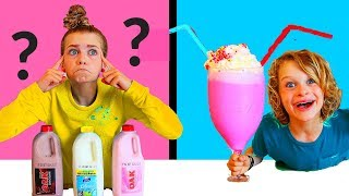 Twin Telepathy Milkshake Challenge!! (THE GREATEST EVER) SIS VS BRO style ft The Norris Nuts