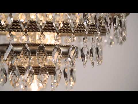 Video for Diva Silver Leaf with Gold Two-Light Wall Sconce