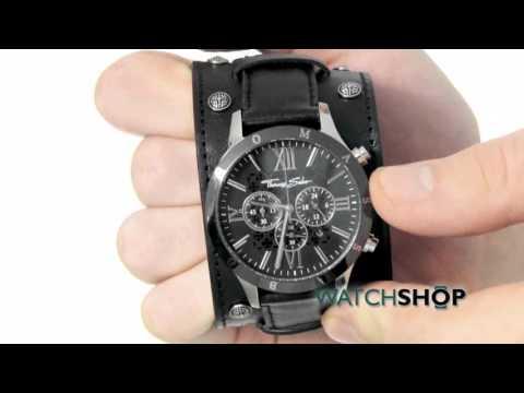 Thomas Sabo Men's Rebel at heart Chronograph Cuff Watch (WA0140-218-203-43MM)