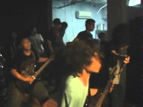 "Never Stop Fighting live @ Rossi Music Fatmawati - Sample our new fucking song ""Blossoming""."