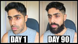 i recorded my beard growth everyday for 90 days | TRANSFORMATION