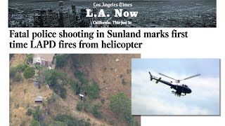 LAPD fires from helicopter - SWAT Shootout - Tujunga CA