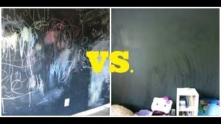 How To Clean A Chalkboard Wall...Using Coca Cola!