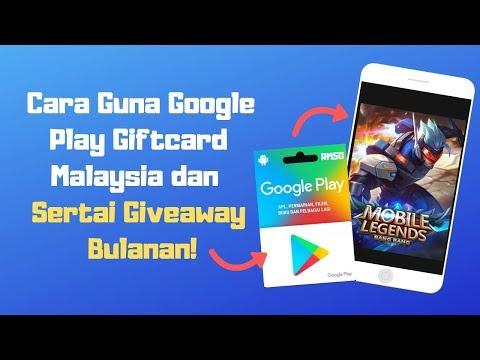 Cara Guna Google Play Giftcard Malaysia | Giveaway Free Google Play GiftCard