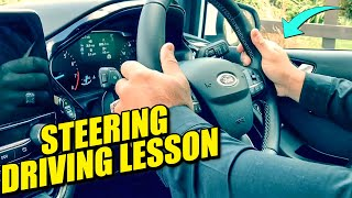 Steering Driving Lesson - How to Steer/How to correct if confused!