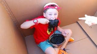 Johny Johny Yes Papa Ali and Adriana want to eat Black Noodles