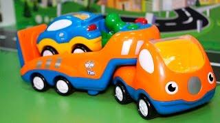 Мультики про машинки с игрушками Машины помощники - Эвакуатор и Экскаватор.