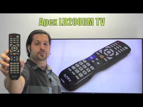 APEX LD200RM TV Remote Control - www.ReplacementRemotes.com