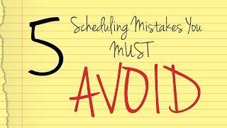 Project Scheduling: 5 Mistakes You MUST Avoid (and how to fix them)