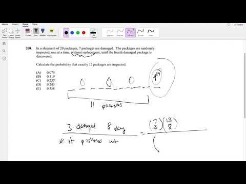 SOA Exam P Question 200 | Hypergeometric Probability - YouTube