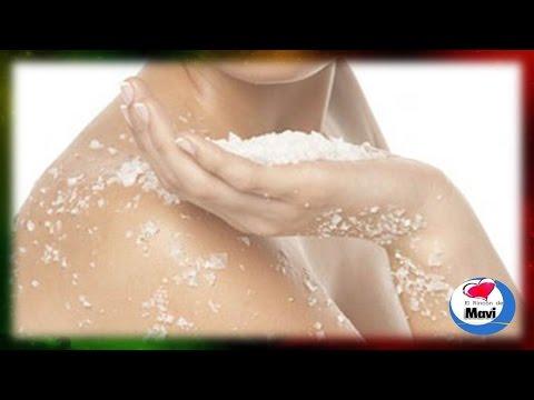 Exfoliantes caseros de sal marina para el cuerpo