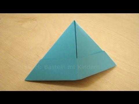 Papierhut falten - Papier falten zum Hut - Origami Hut einfach selber basteln