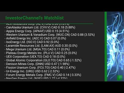 InvestorChannel's Uranium Watchlist Update for Tuesday, Ju ... Thumbnail