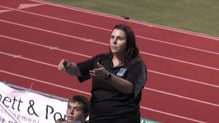 Mrs. Bock Conducts HHS MB Performing the National Anthem 9/8/17