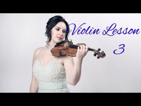 Learn  the VIOLIN - Lesson 3/20 - Names of strings & other notes