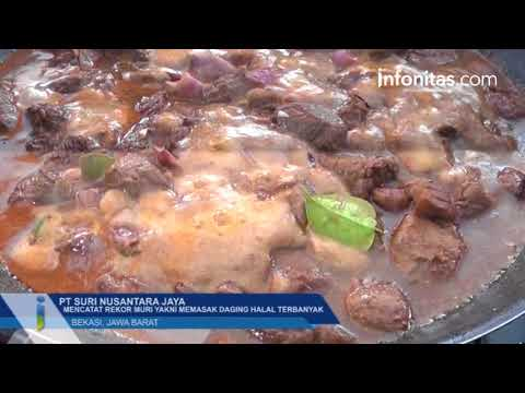 PT Suri Nusantara Jaya Mencatat Rekor Muri Yakni Memasak Daging Halal Terbanyak