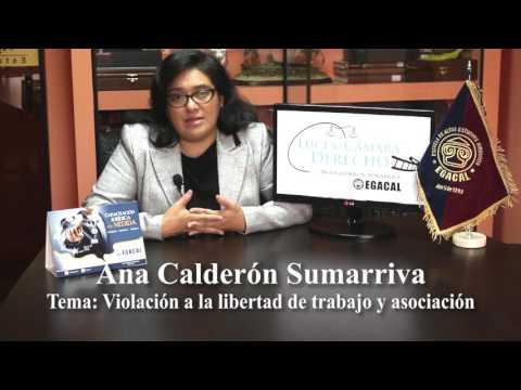 Programa 28 - Violación a la libertad de trabajo y asociación - Luces Camara Derecho - EGACAL