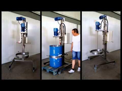Agitador mezclador, removedor de productos automático de 2HP, para envases de 200 litros
