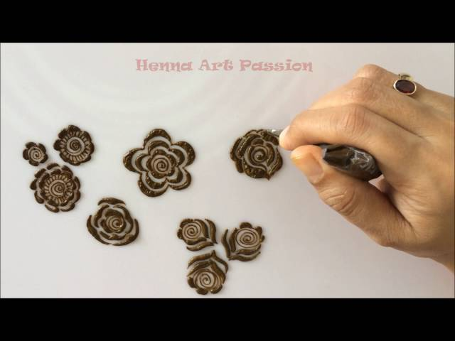 Henna Rose Mehndi Class For Beginners Tips For Making Shaded 3d Rose