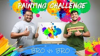 PAINTING CHALLENGE | Brother Vs Brother Painting Challenge | Viwa Brothers