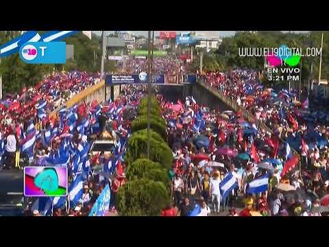 Gigantesca caminata protagonizada por miles de nicaragüenses