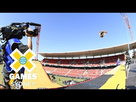 Rony Gomes qualifies first in Skateboard Big Air | X Games Sydney 2018
