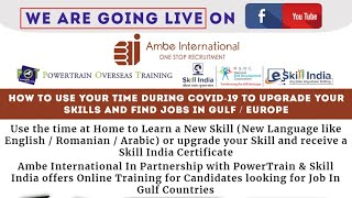 Online Training for Candidates looking for Job In Gulf Countries.