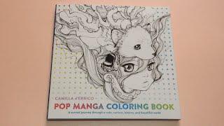 Flip Through Pop Manga Coloring Book By CAMILLA D
