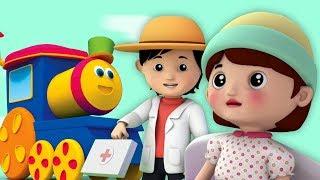 นางสาวพอลลี่มีดอลลี่ | เพลงสำหรับเด็ก | บทกวีของเด็ก | 3D Kids Rhymes | Bob the Train | Miss Polly