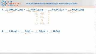 Chemistry Practice Problems: Balancing Chemical Equations