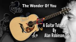 The Wonder Of You - Elvis - Acoustic Guitar Lesson (easy)