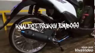 Review knalpot TSUKIGI EMBOSS di motor honda beat pop110cc,