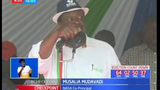 NASA flag bearer Raila Odinga led his team to their first rally in Nandi County
