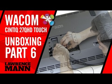 WACOM 27QHD Unboxing PART 06 – Connecting the Cables