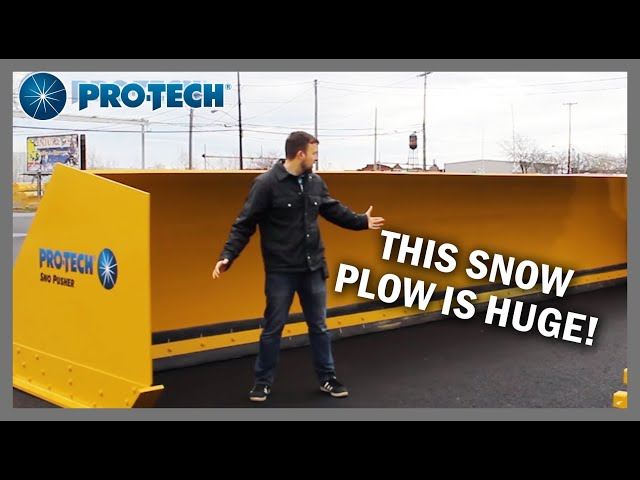 Snow Pusher for Airports and other large properties - Pro-Tech Super Duty Sno Pusher
