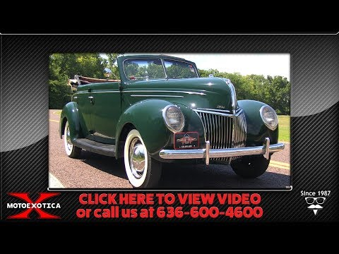 1939 Ford Deluxe Roadster Sedan || For Sale