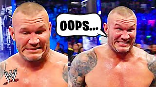 10 Times WWE Wrestlers BROKE CHARACTER ON LIVE TV!