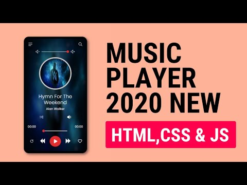 JavaScript Music Player App in 2020 New | Full Working | Mini Project