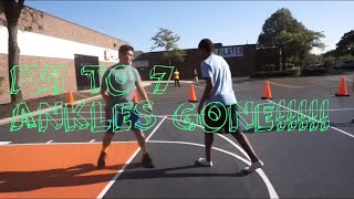 13 YEAR OLD PLAYS HIGH SCHOOLER IN 1v1 ANKLES!!!!!!'