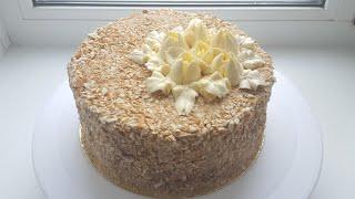 """Торт """"Киевский""""🍥 простой и вкусный торт-безе🍥 """"Kievskii"""" cake #янабенрецепты #киевскийторт"""