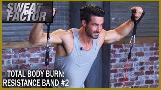 Total Body Burn Resistance Band Training with Drake: Circuit 2- Sweat Factor by BeFiT
