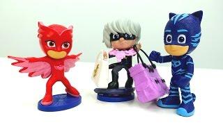ГЕРОИ В МАСКАХ против злодеев! Видео с игрушками! Лунная девочка похищает сумки  👜 из магазина!