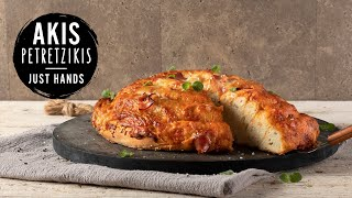 Greek-style Sesame Bagel Pizza | Akis Petretzikis by Akis Kitchen