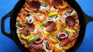 Easy Pan Pizza - Foolproof Crust - Healthier, Low Fat Pan Pizza!