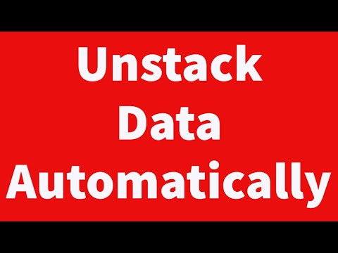 Unstack Data Automatically
