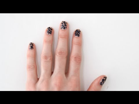 DIY Nail Art Tutorial: Leopard Print