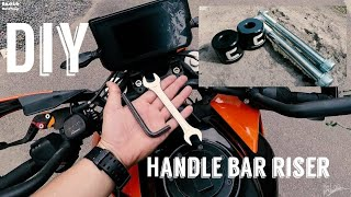 DIY HANDLEBAR RISER KTM DUKE 390