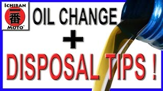 how to change motorcycle oil and dispose of it for free !