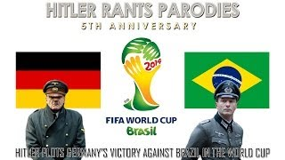 Hitler plots Germany's victory against Brazil in the World Cup