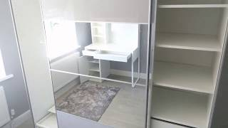 Ikea Pax with Auli & Hasvik Sliding Doors & Micke Desk - Assembled in Dunvant, Swansea